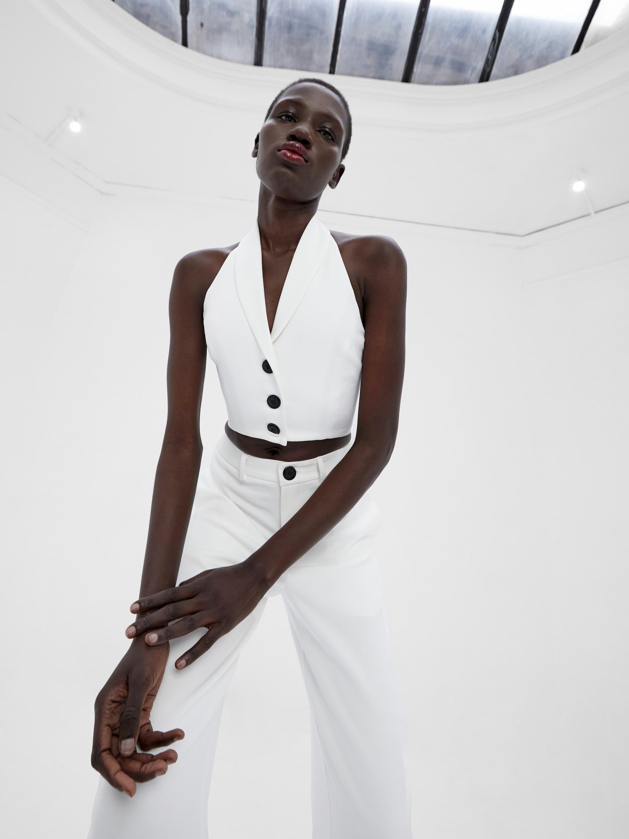 Kamee Suit Vest Ivory
