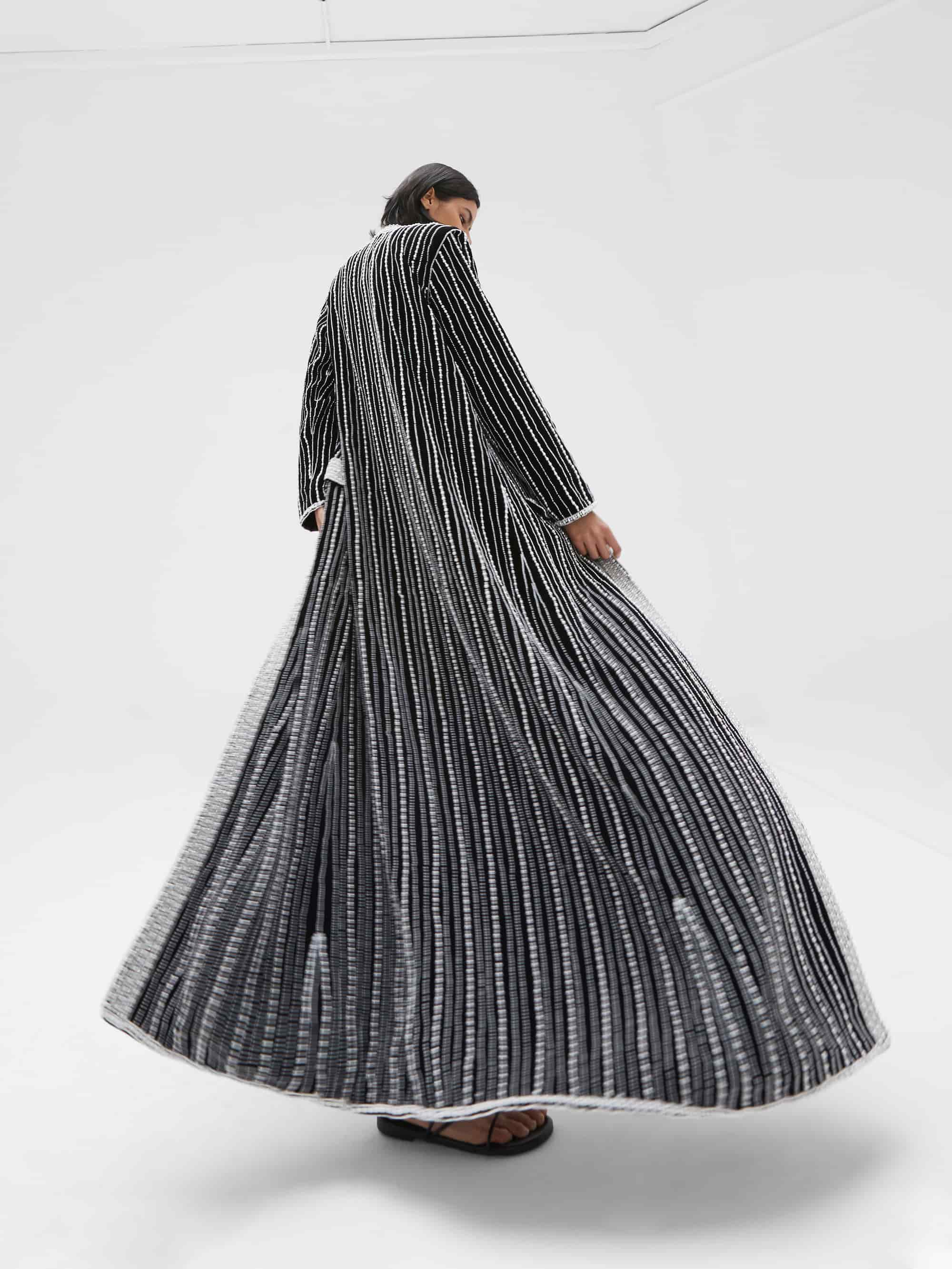 View 2 of model wearing Kasia Kimono in black.