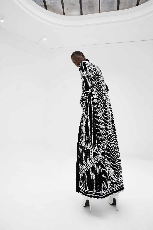 View 4 of model wearing Kainaaz Kimono in black.