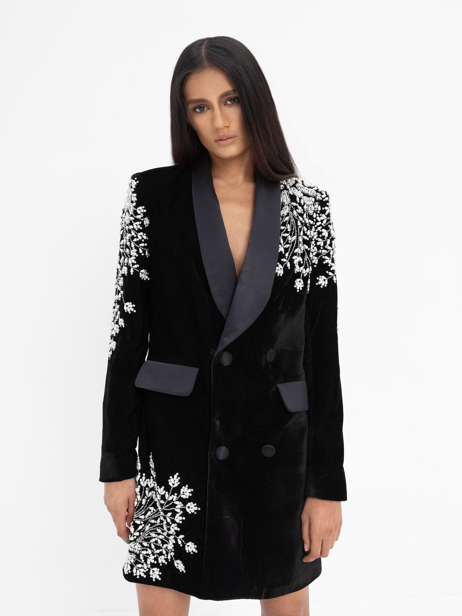 Kamra Blazer Dress Black