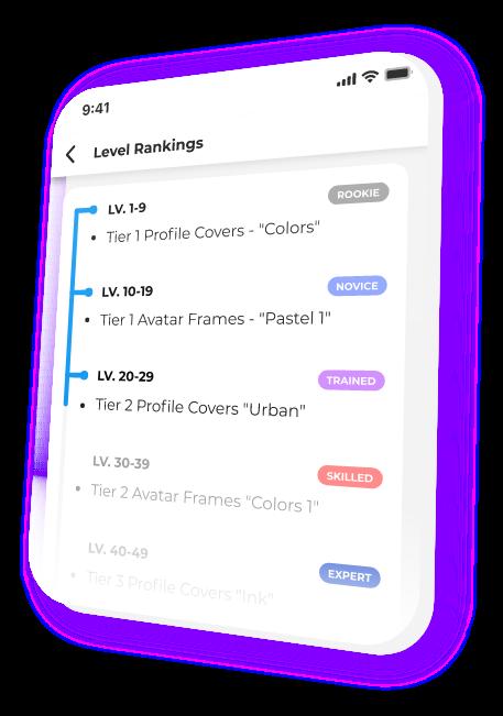 Image showing Beam.gg Level Rankings badge progression.