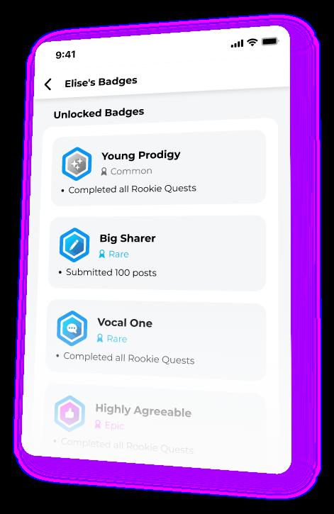 Image showing Beam.gg profile badges list.