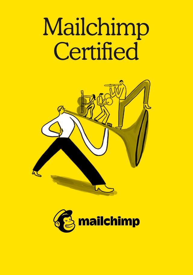 Mailchimp Certified Badge.