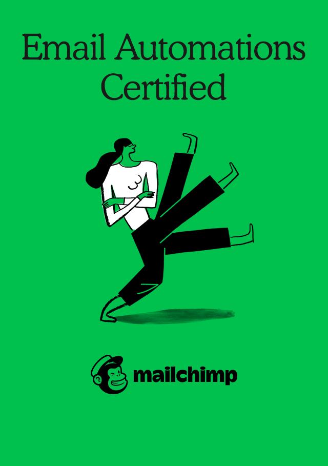 Mailchimp Automation certificate.