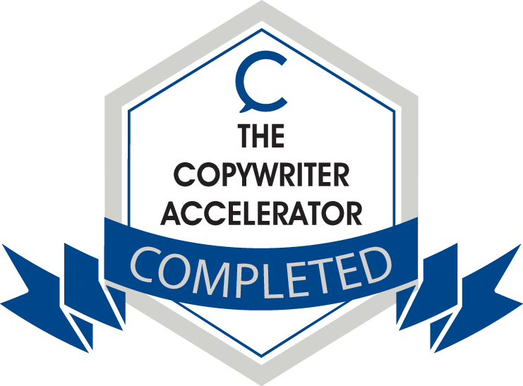 Copywriter Accelerator Completion badge.