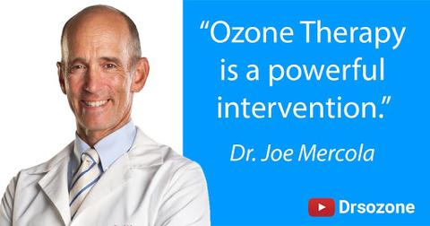 """Dr Joe Mercola quote - """"Ozone therapy is a powerful intervention."""""""