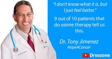 Dr Tony Jiminez quote - I don't know what it is, but I just feel better. 9 out of 10 patients that do ozone therapy tell us this.