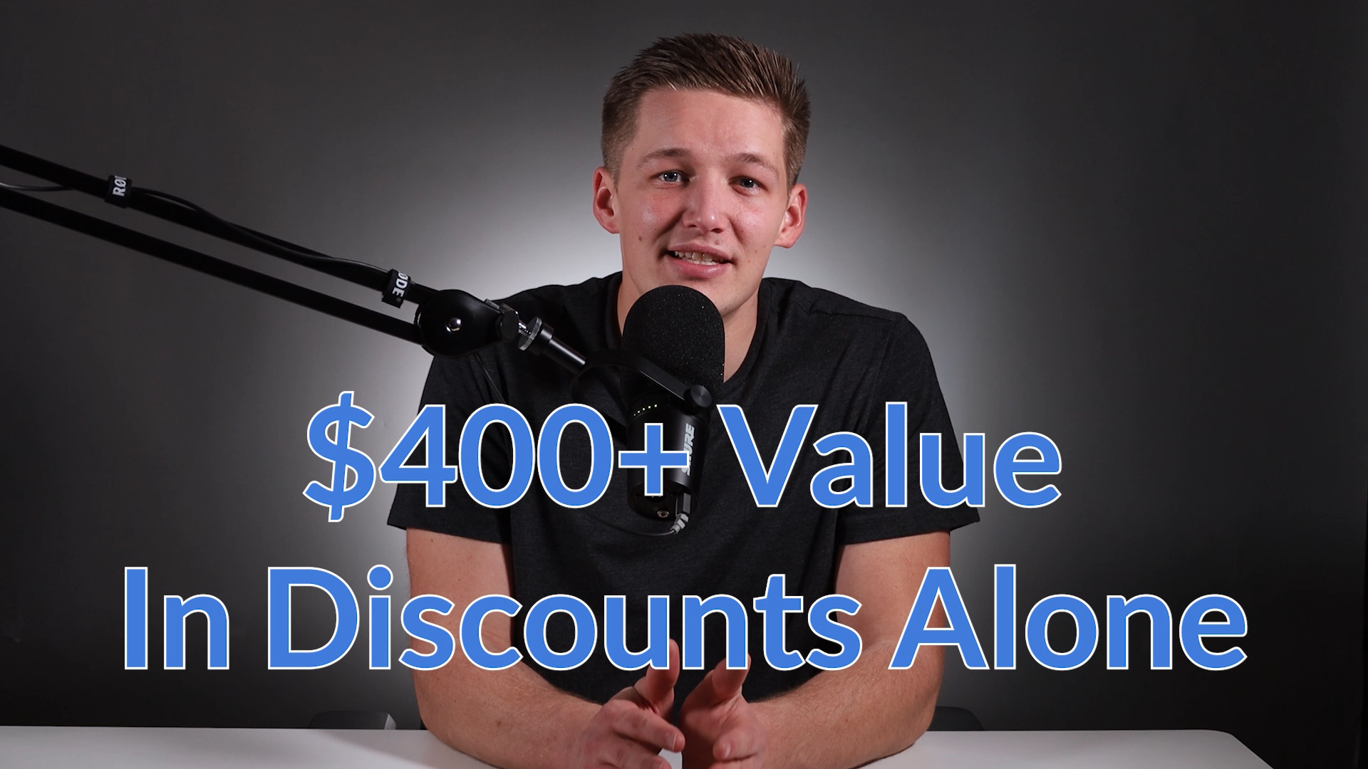 $400+ of discounts are included in the course