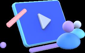 ícone com play