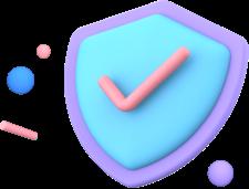 ícone com sinal de verificado