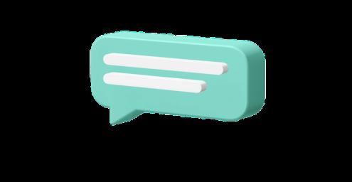 imagem de um balão de conversa