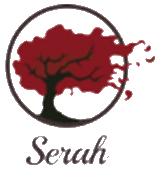 red tree blowing in wind graphic logo