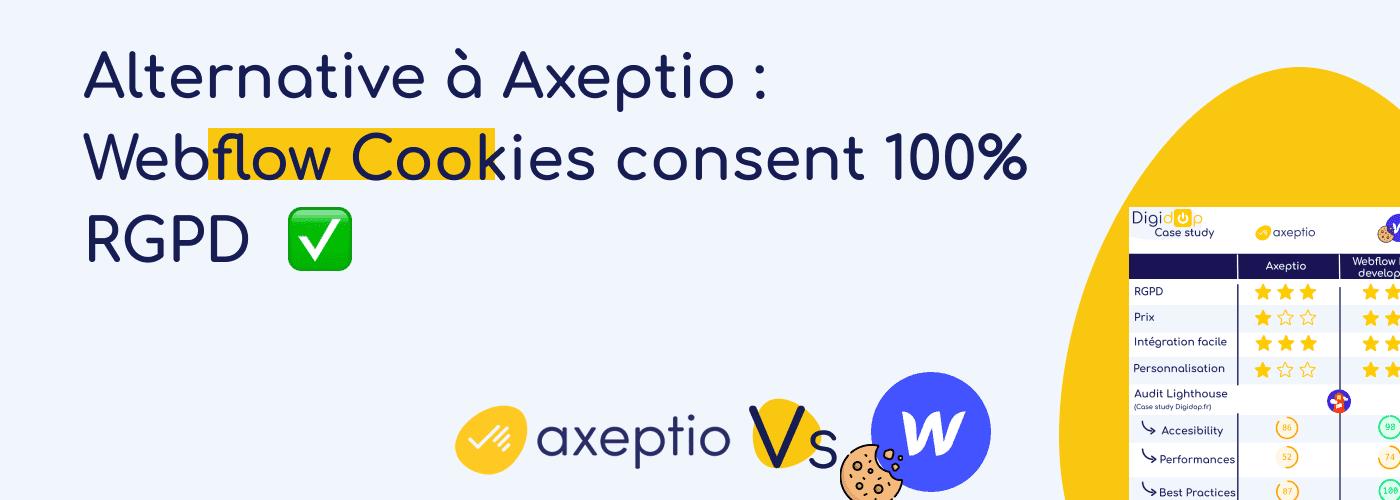 Alternative à Axeptio : Webflow Cookies consent 100% RGPD
