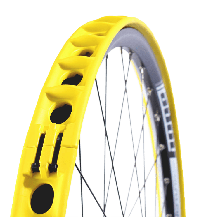 Rockstop Tyre Insert fitted on a Wheel Frame