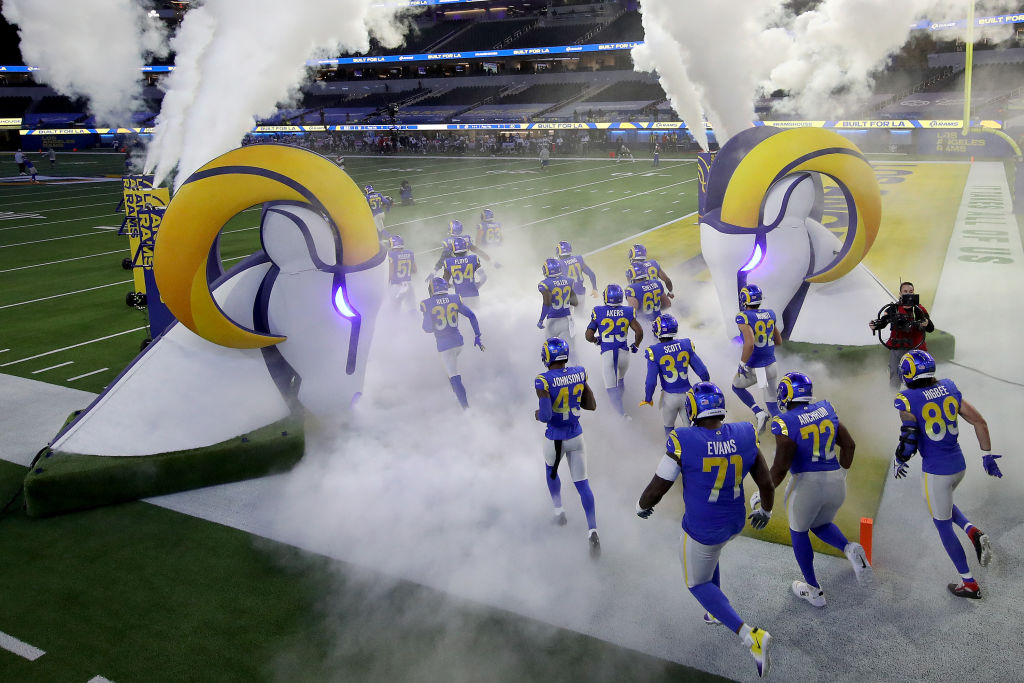 LA Rams Player Entrance