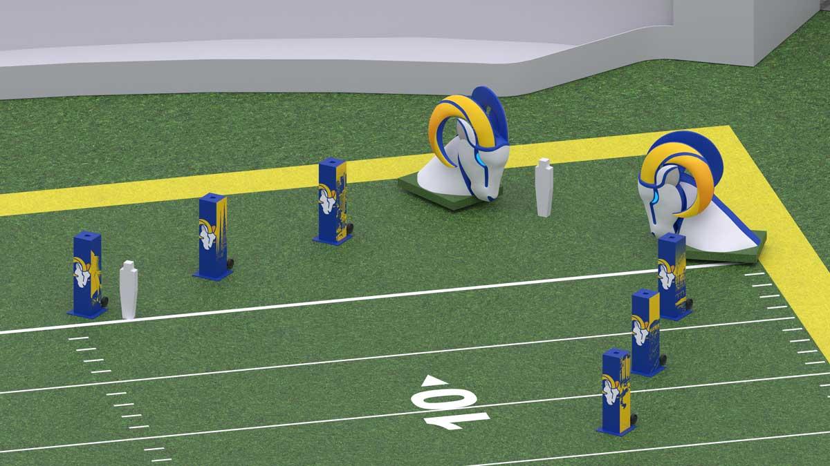 LA Rams player entrance design model