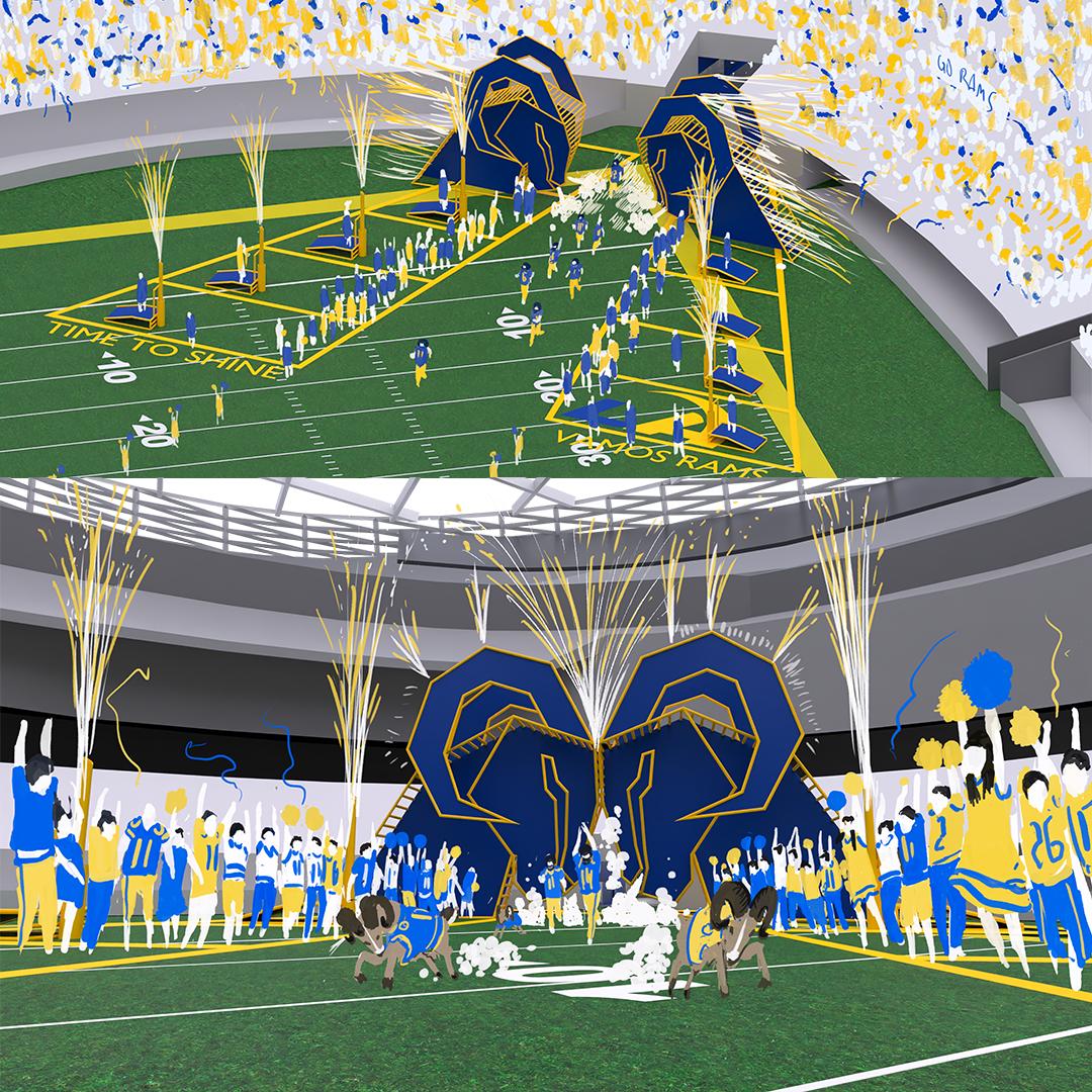 LA Rams player entrance design concept