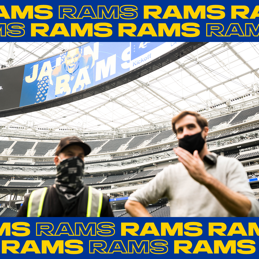 LA Rams player entrance logo