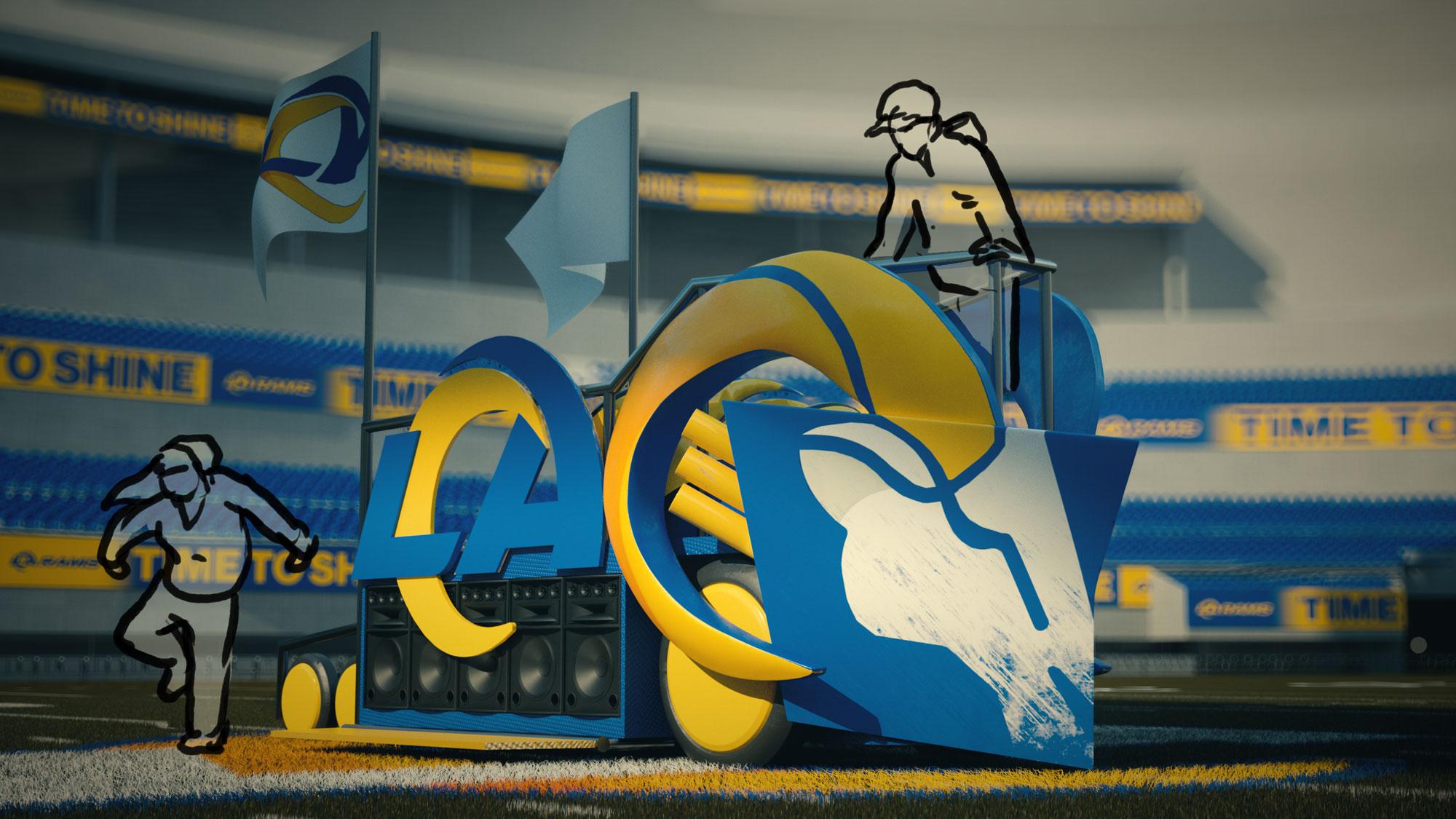 LA Rams mascot concept sketch