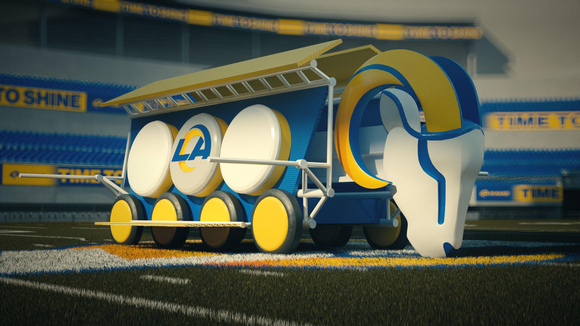 LA Rams mascot concept design