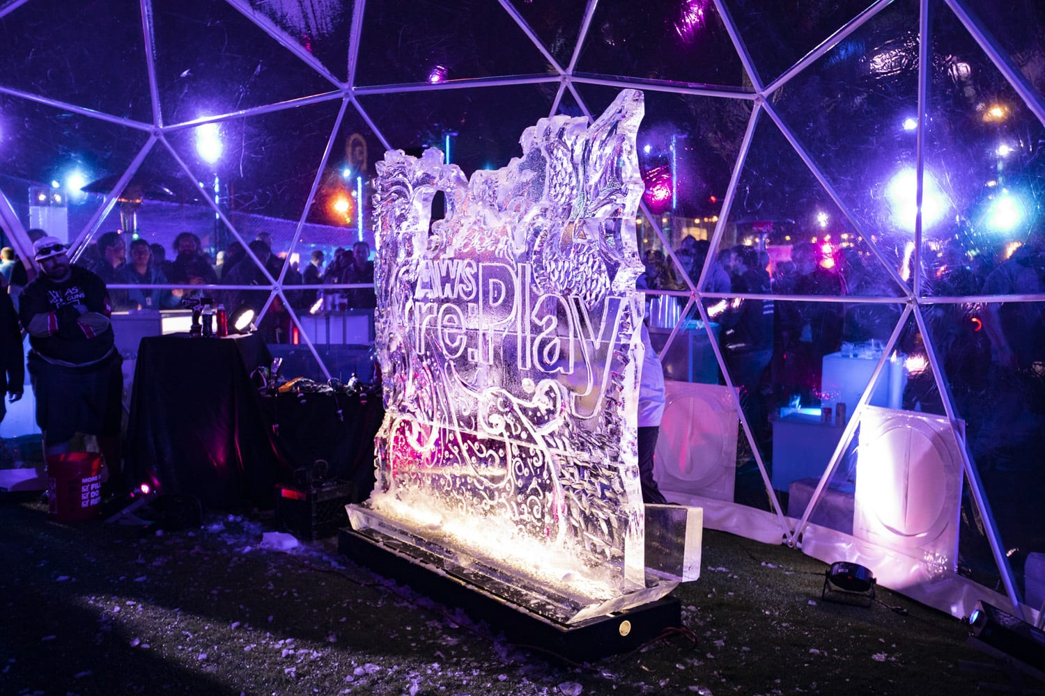 AWS re:Play Ice Sculpture