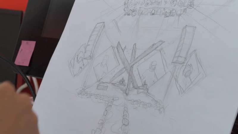 The Chainsmokers World War Joy stage design sketch process