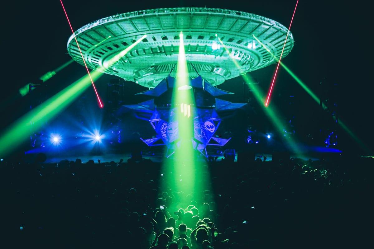 Skrillex Mothership Tour vol. II  spaceship