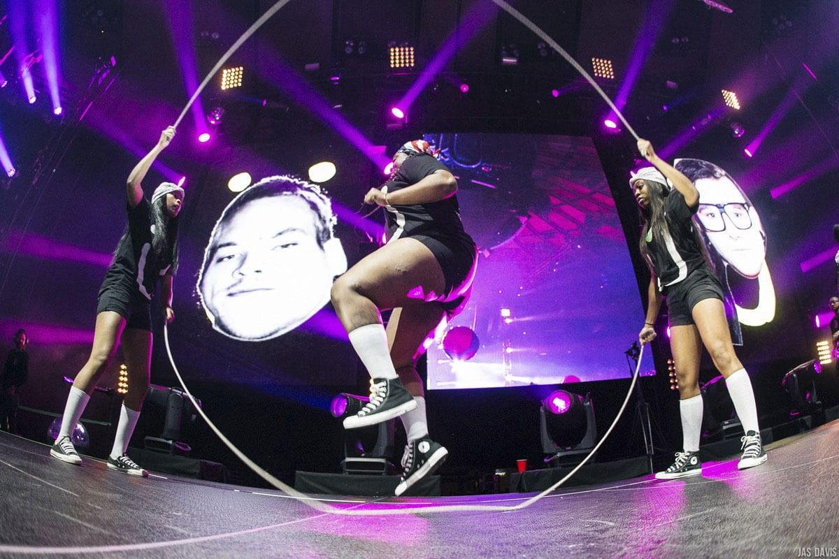 JackU NYE Madison Square Garden hopscotch