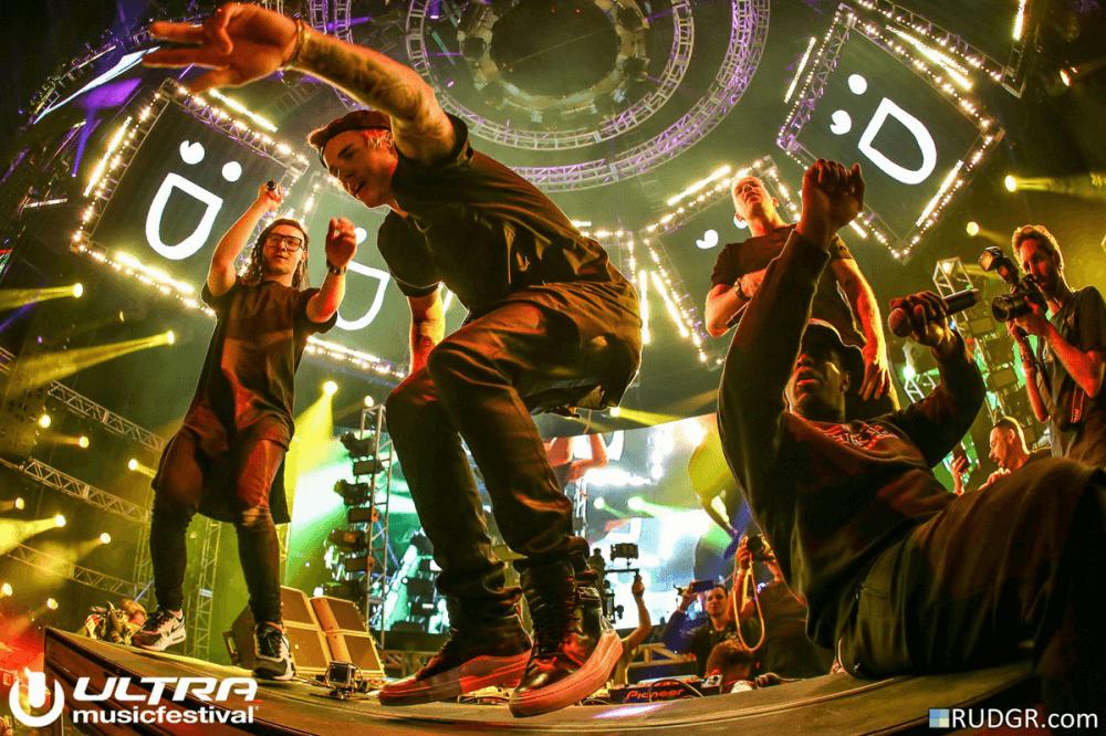 Skrillex + Diplo @ Ultra Music Festival Miami Headline Show feat. Justin Bieber, P. Diddy, CL