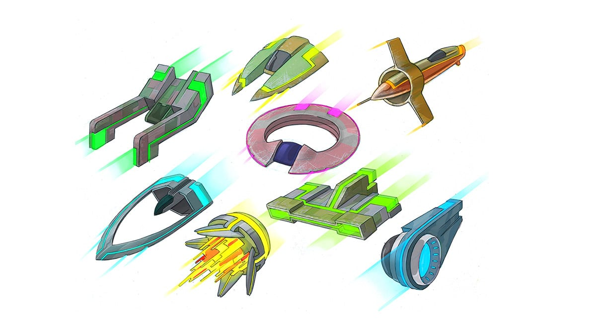Intel Super Space Melee art direction
