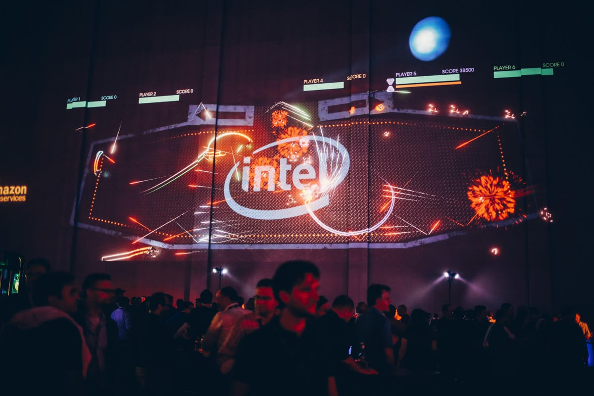 Intel Super Space Melee projection