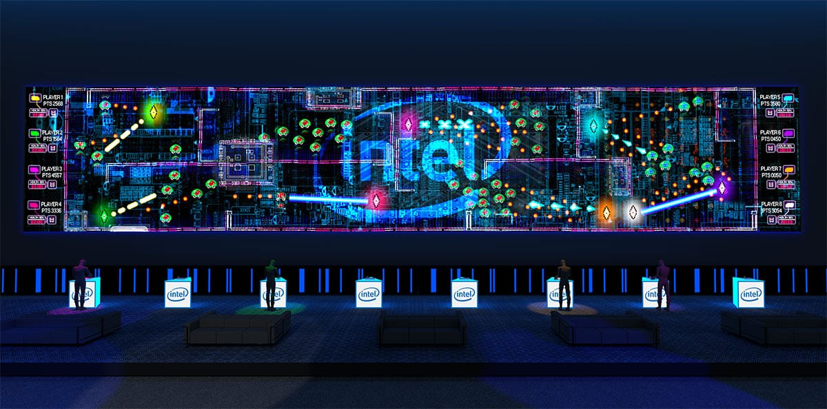 Intel Super Space Melee game