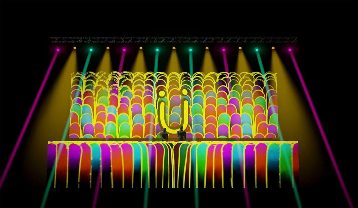 Jack Ü Fall Tour  visuals lights