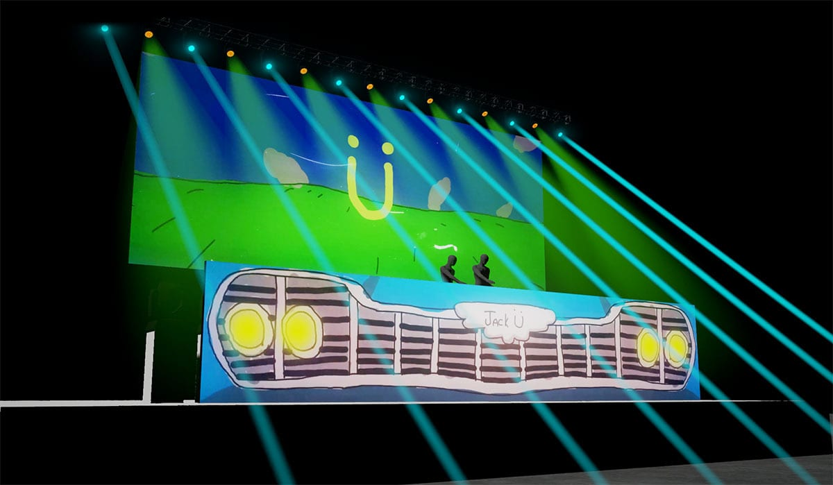 Jack Ü Fall Tour  stage visuals