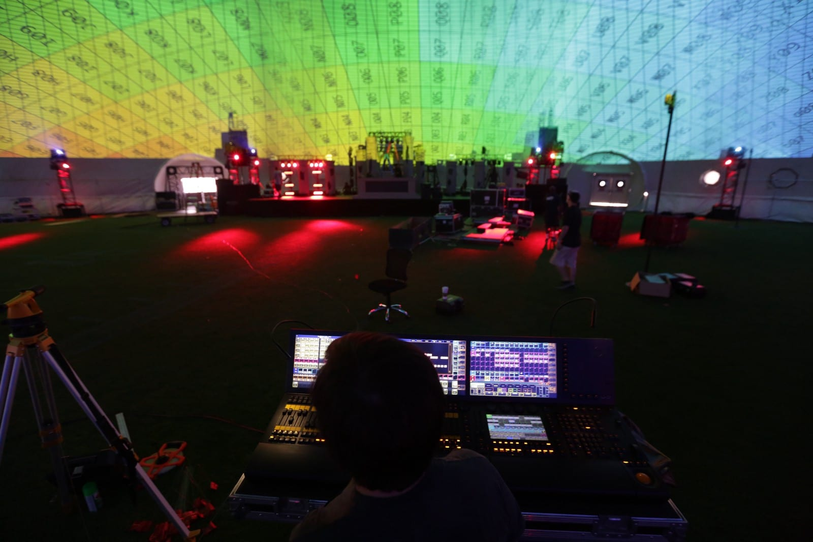 .party() LA projection mapping