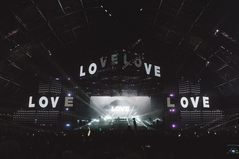ZHU Neon City Tour Coachella 2016 stage graphics
