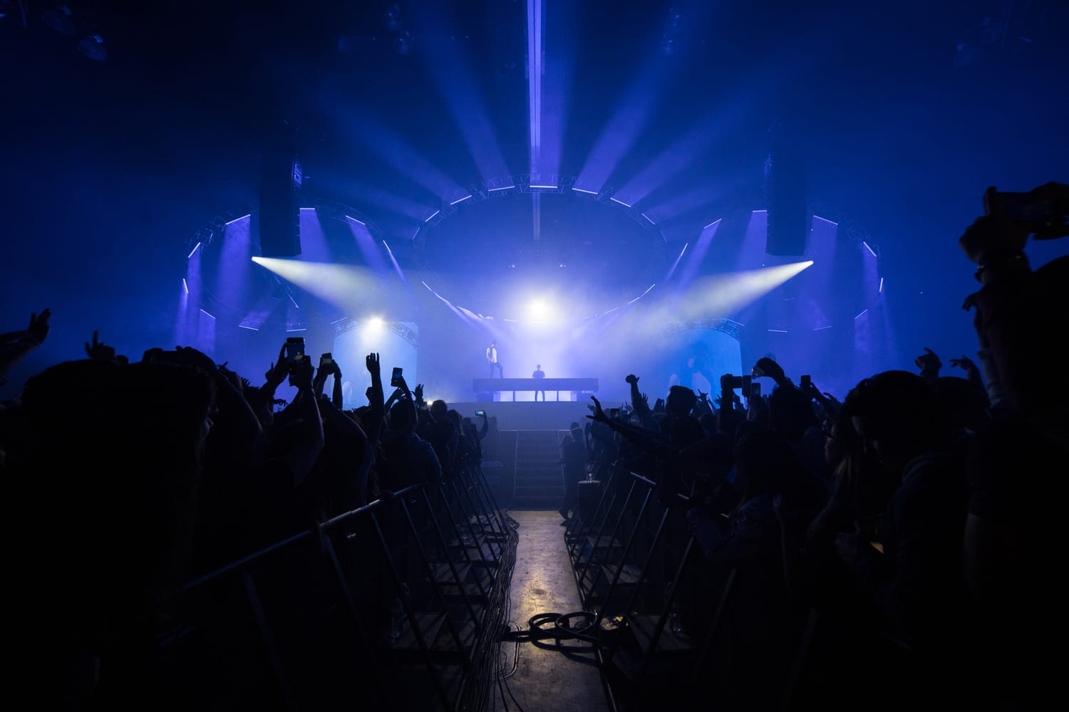 The Chainsmokers NYE stage lights