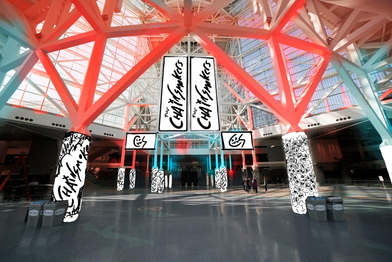 The Chainsmokers NYE art direction