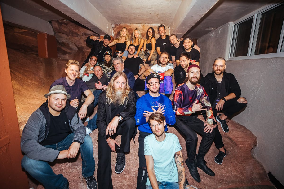 Zedd Orbit tour group photo