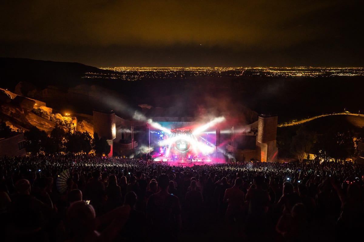 Zedd Orbit Tour Red Rocks stage