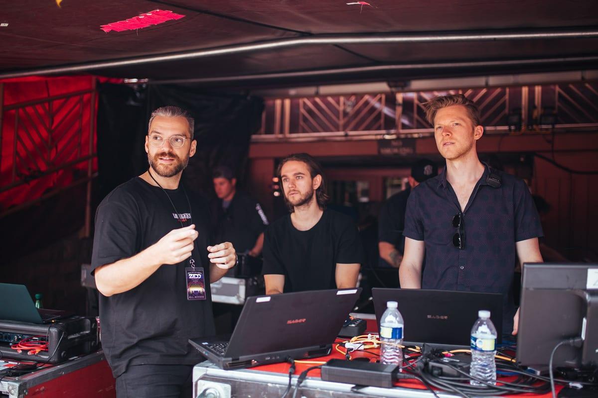 Zedd Orbit Tour backstage