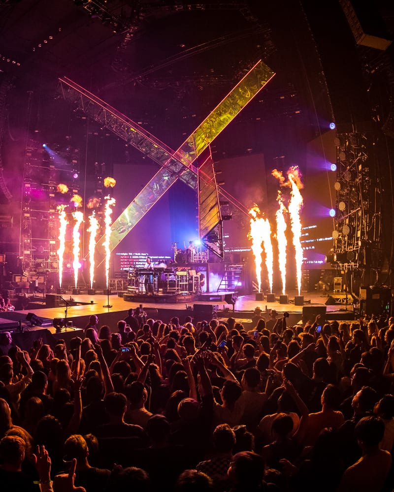 The Chainsmokers 2019 tour stage