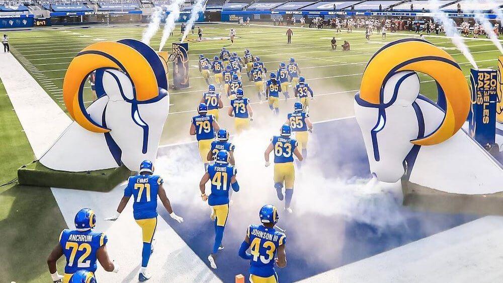 LA Rams – Player Entrance