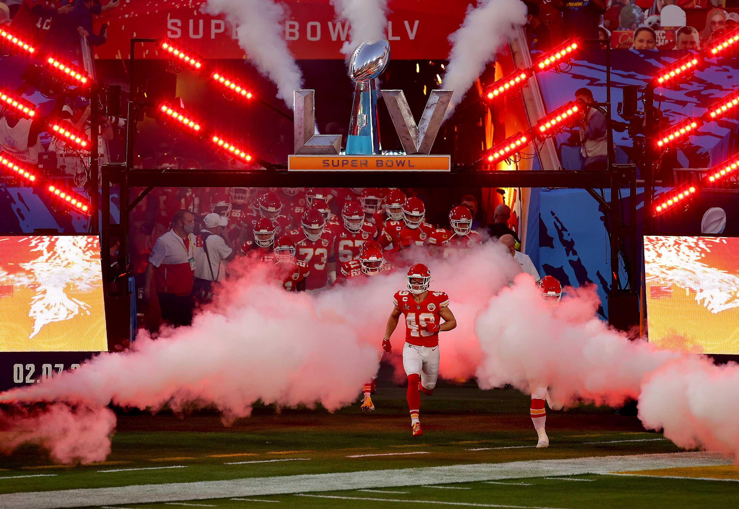 Super Bowl LV - Player Entrance