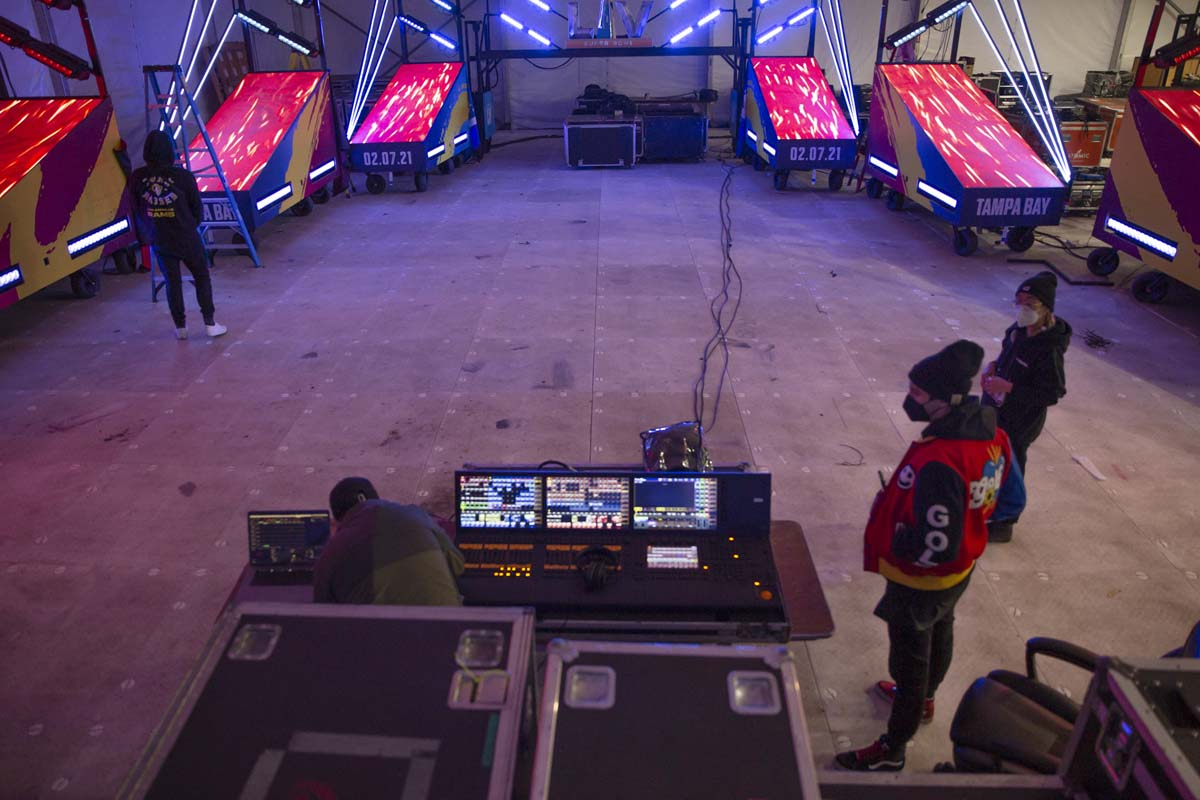 Super Bowl LV stage