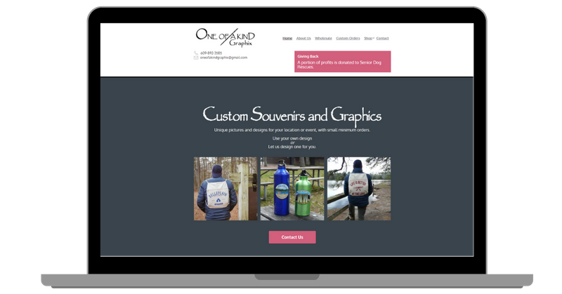 One of a Kind Graphic Website