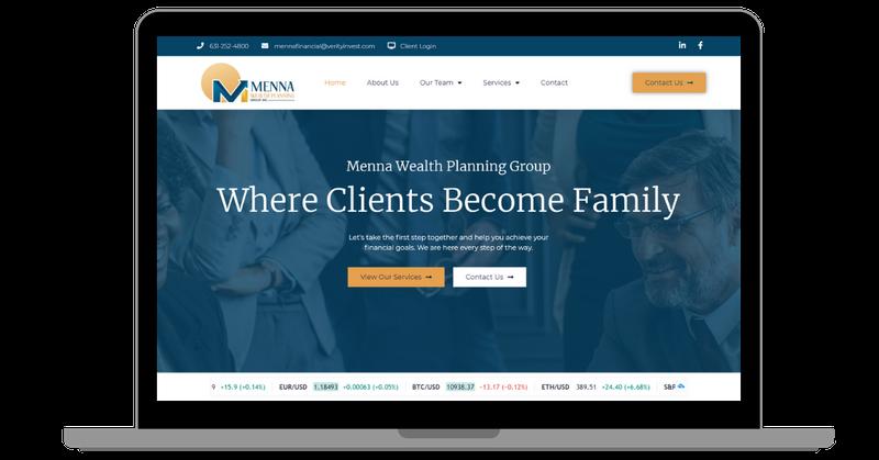 Menna Wealth Planning Group Website