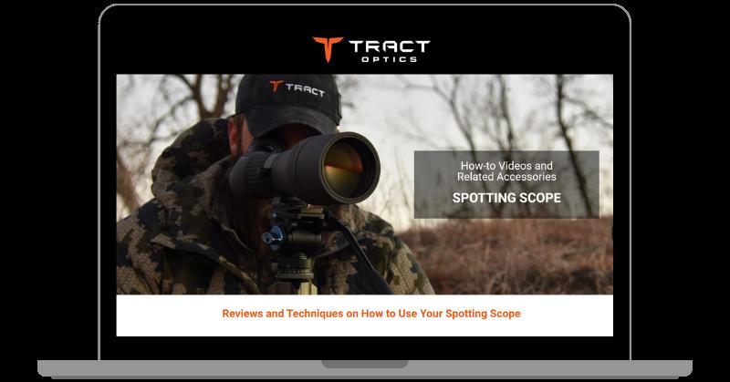 TRACT Optics landing page website