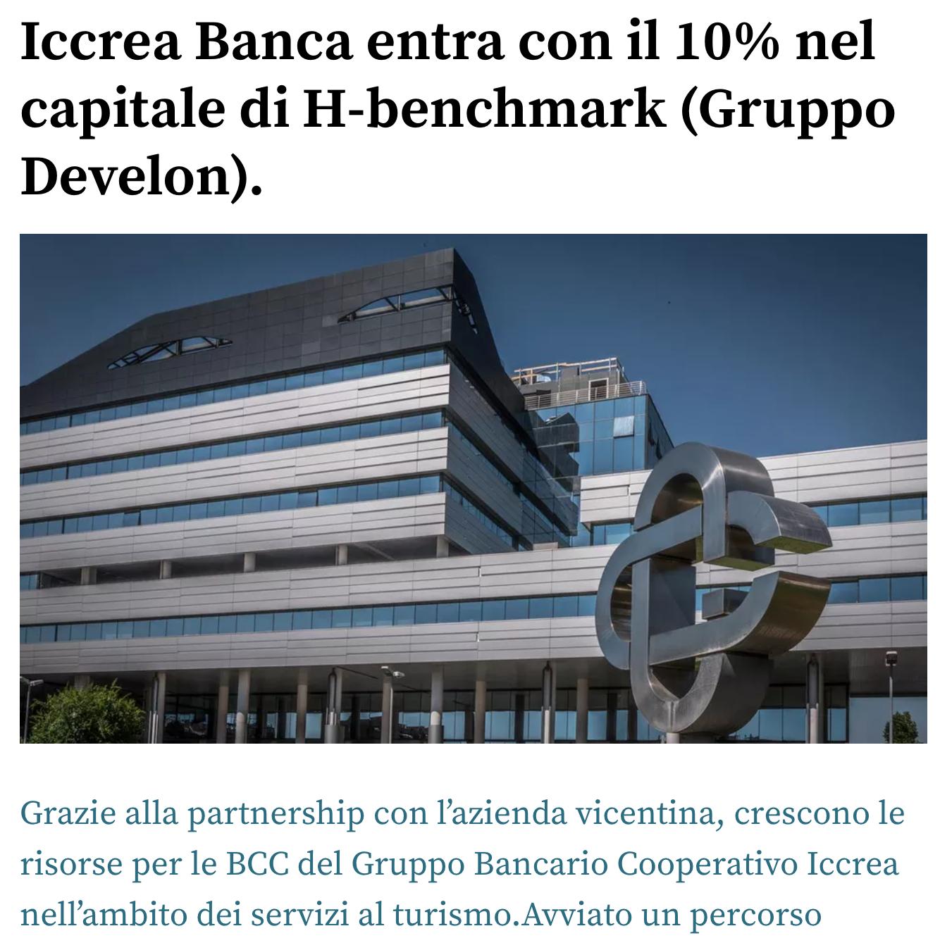 Iccrea Banca entra nel capitale di HBenchmark