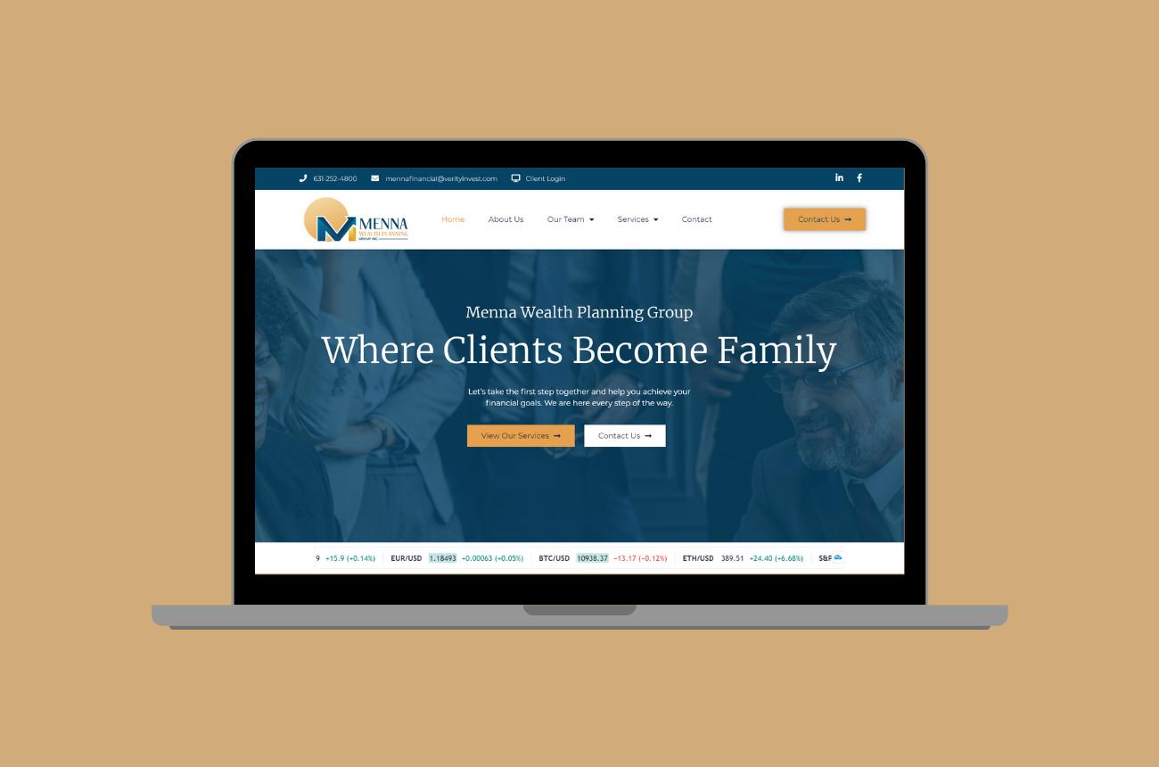 Menna Wealth Planning Group Web Design